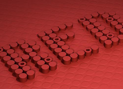 如何在Photoshop中创建3D圆柱体文本效果