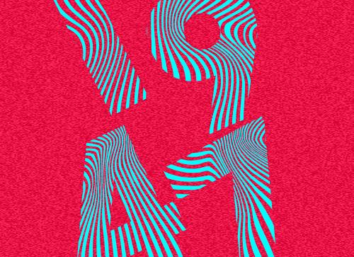使用illustrator的宽度工具制作点线面结合的抽象海报