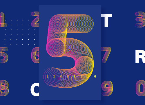 AI混合工具制作管状字体效果