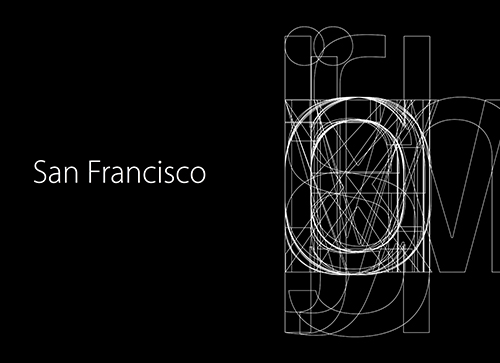 英文字体特刊:苹果San Francisco字体设计探秘