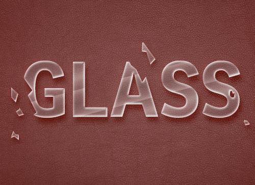 如何在Photoshop中创建快速破碎的玻璃文本效果