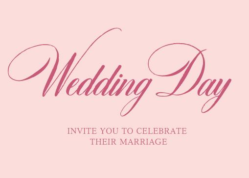 这几种漂亮的字体比较适合婚礼邀请函的设计
