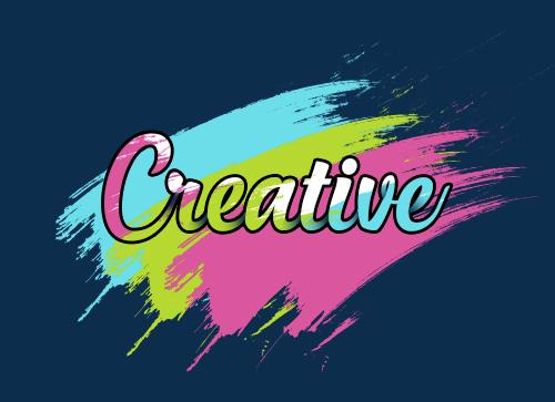 使用photoshop工具打造彩色颜料涂抹字体效果