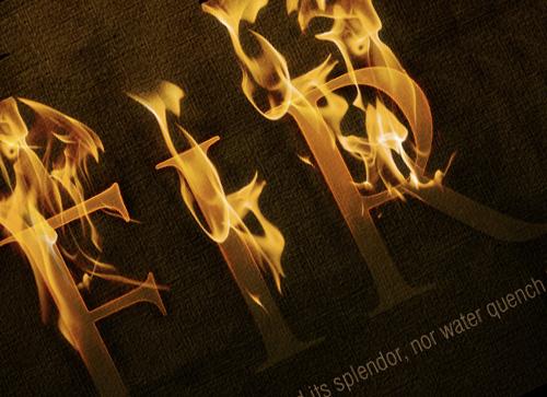 photoshop打造壮观的火焰字体效果