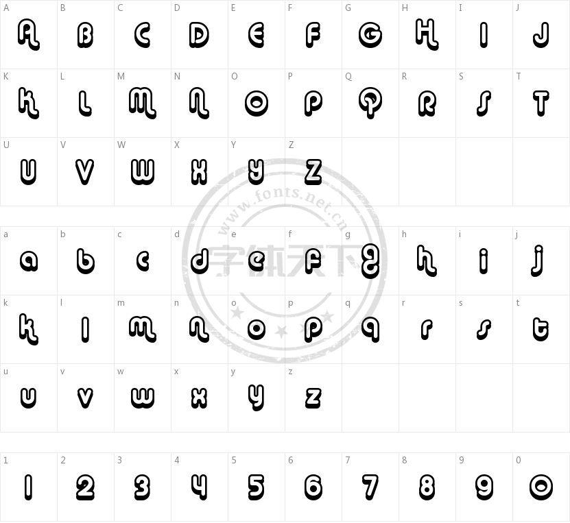 Alba的字符映射图