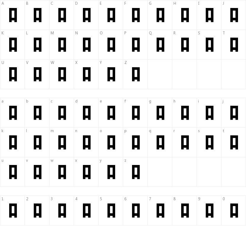Minirus的字符映射图