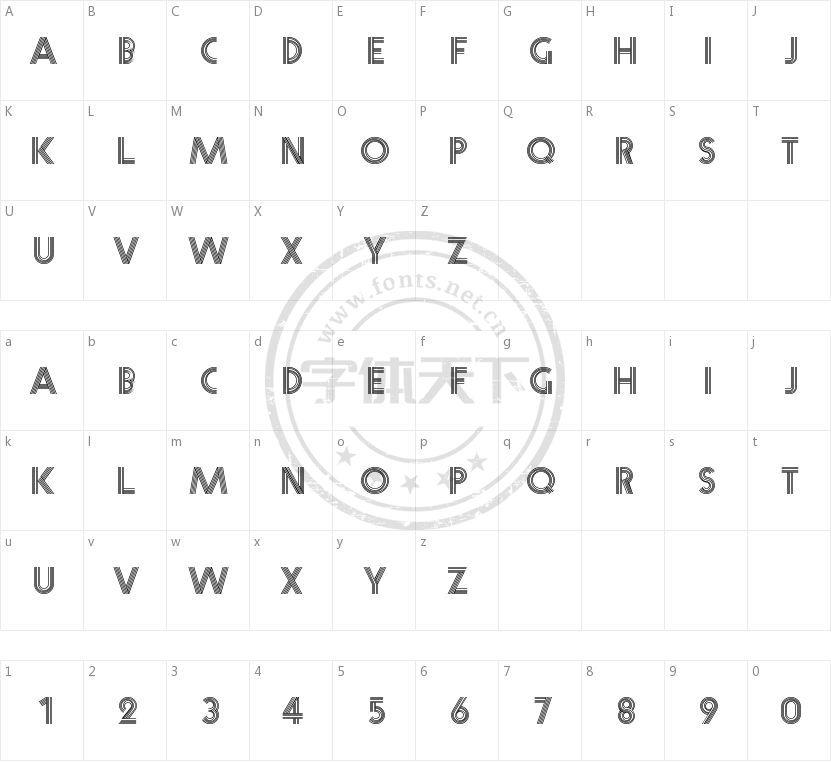 Prisma的字符映射图