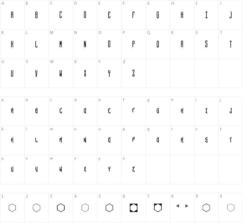 Hex的字符映射图