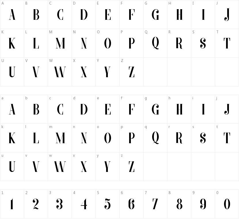 Morva的字符映射图