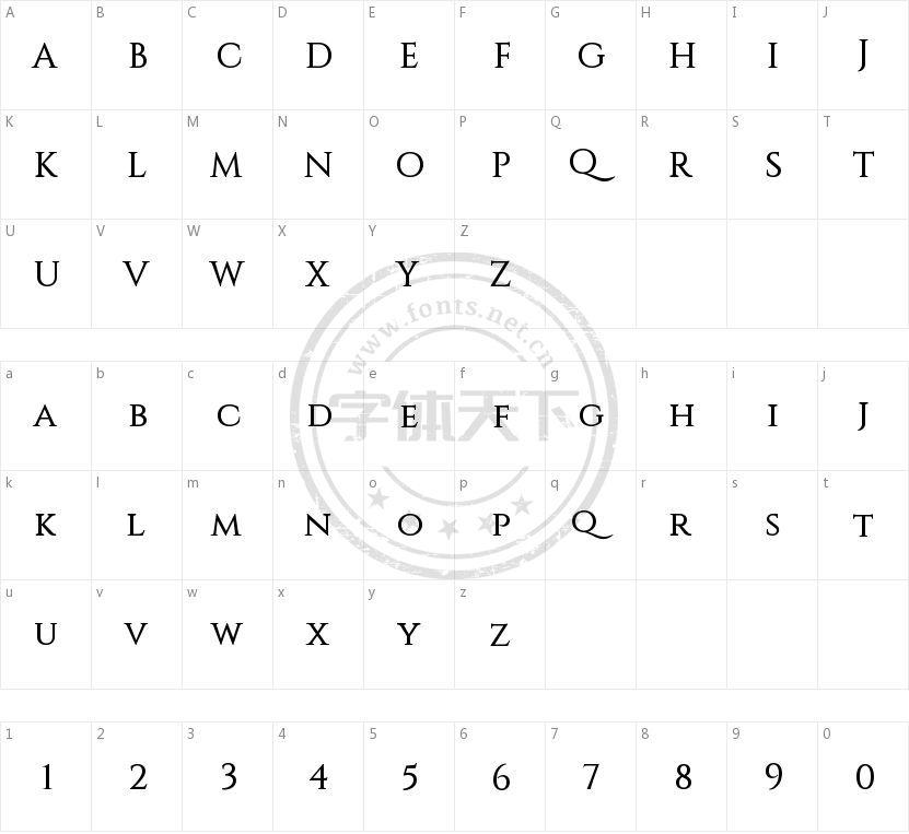 Constantine的字符映射图