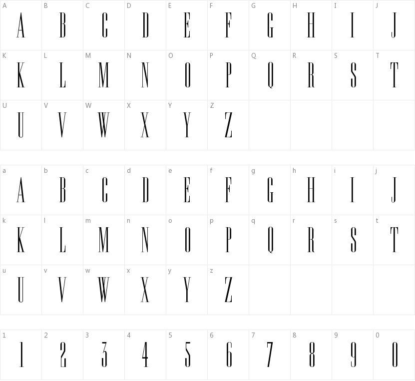 Edition的字符映射图