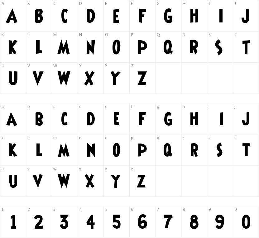 Shermlock的字符映射图