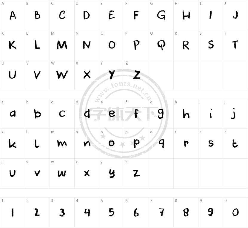 Dk Cool Crayon字体免费下载和在线预览 字体天下
