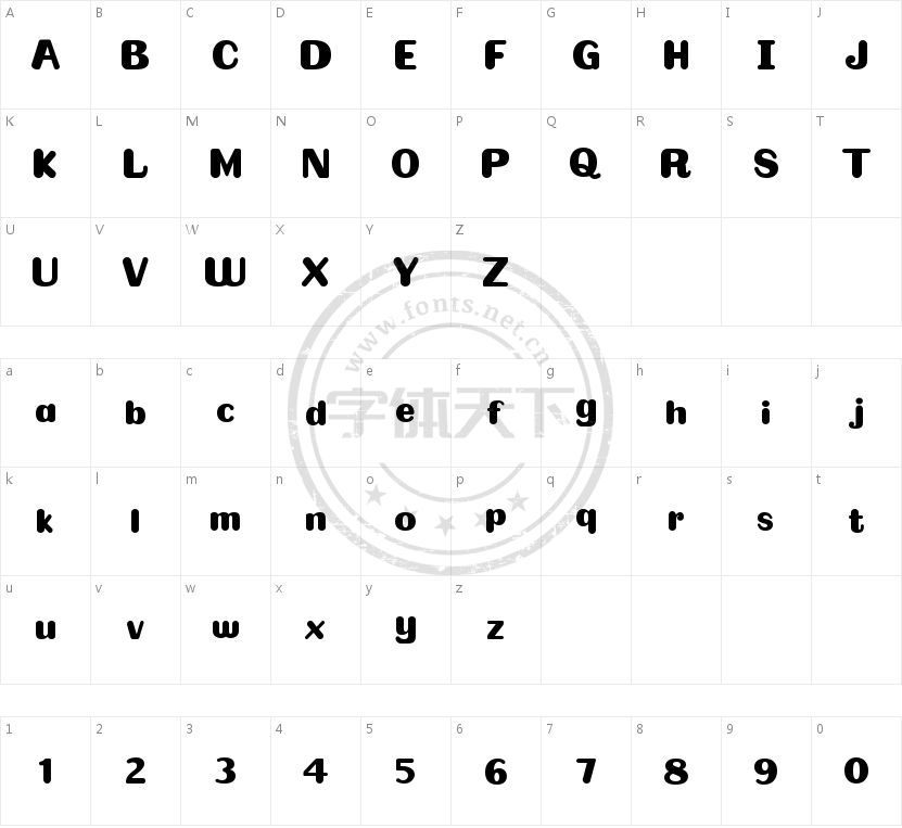 Omelette的字符映射图