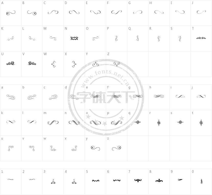 Nymphette的字符映射图