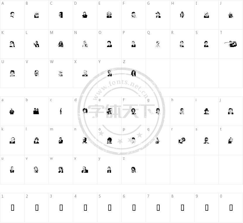 UdeMan的字符映射图