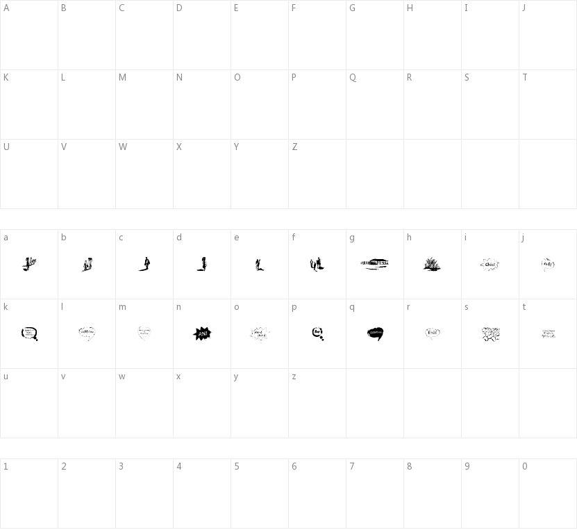 Vidas Secas Dingbats的字符映射图