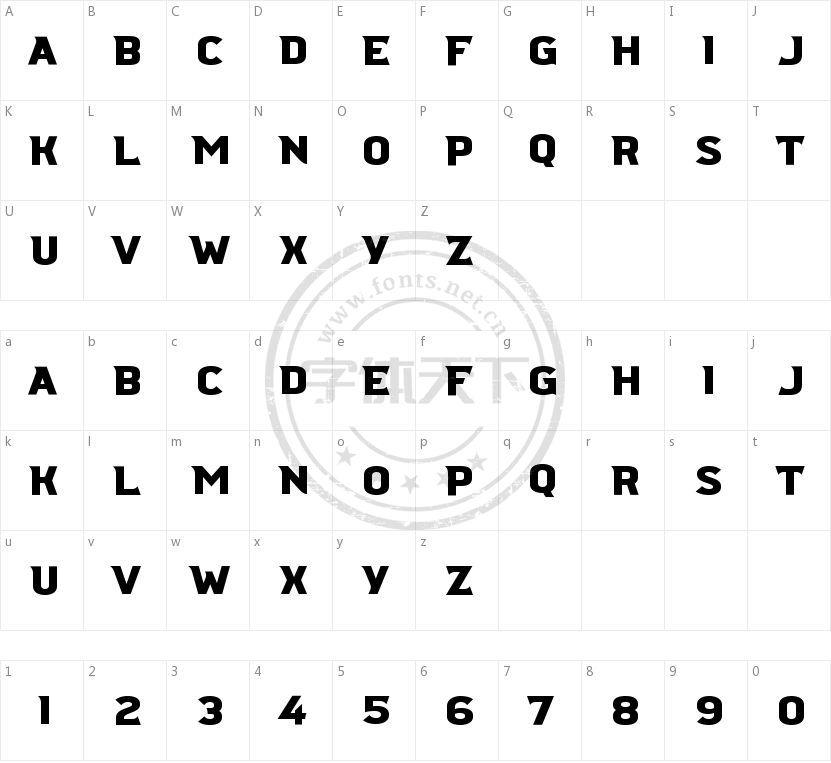 Ridgeline 201的字符映射图