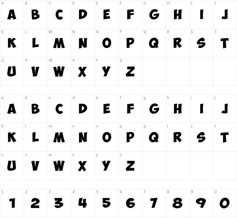 Obelix Pro的字符映射图