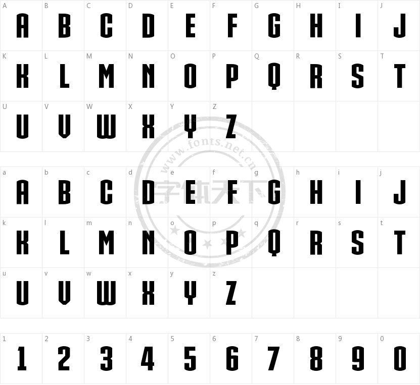 IRON MAN OF WAR 2 NCV的字符映射图