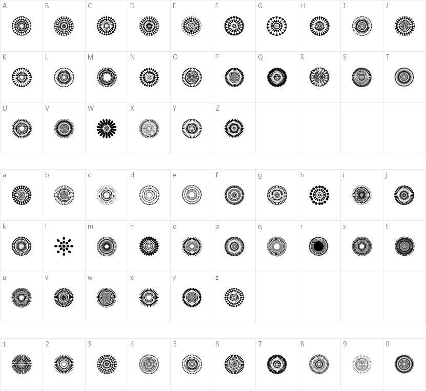 Mandalas pro的字符映射图