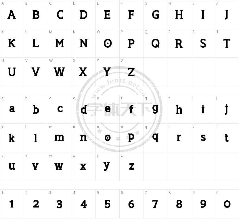 TSG Romulus的字符映射图