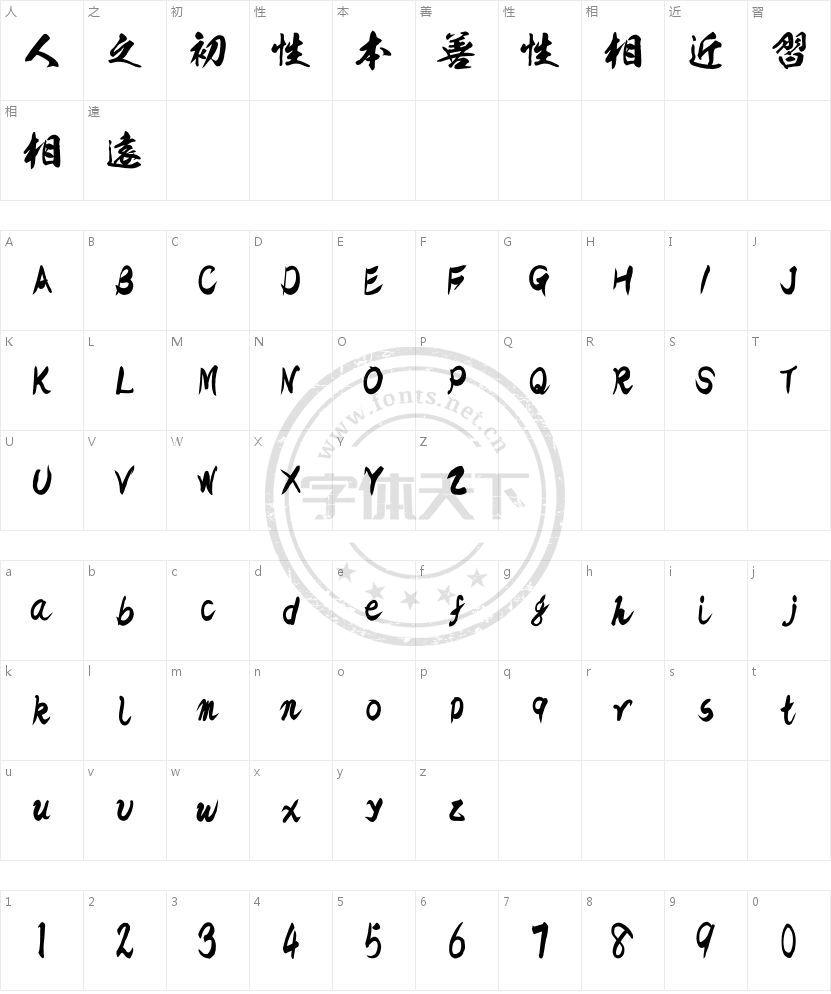 KSO雷神的字符映射图