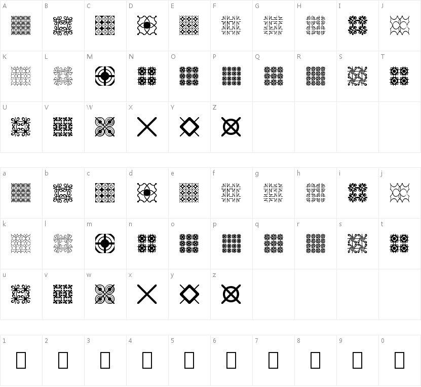 Seamless Patterns的字符映射图