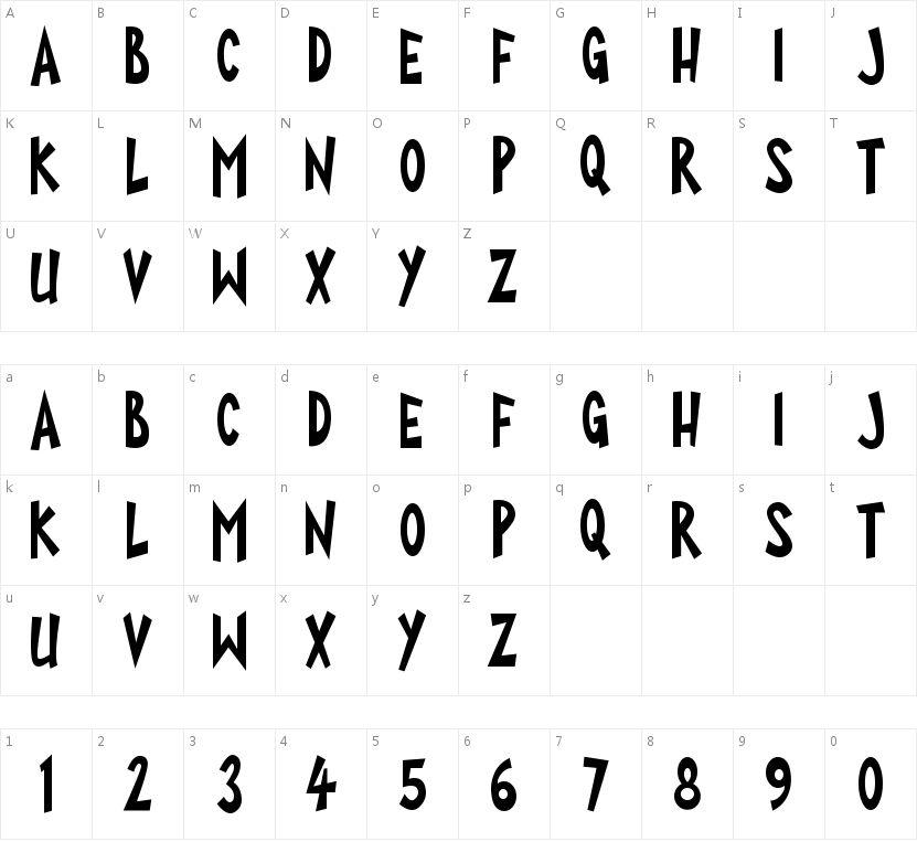 Super Toons的字符映射图