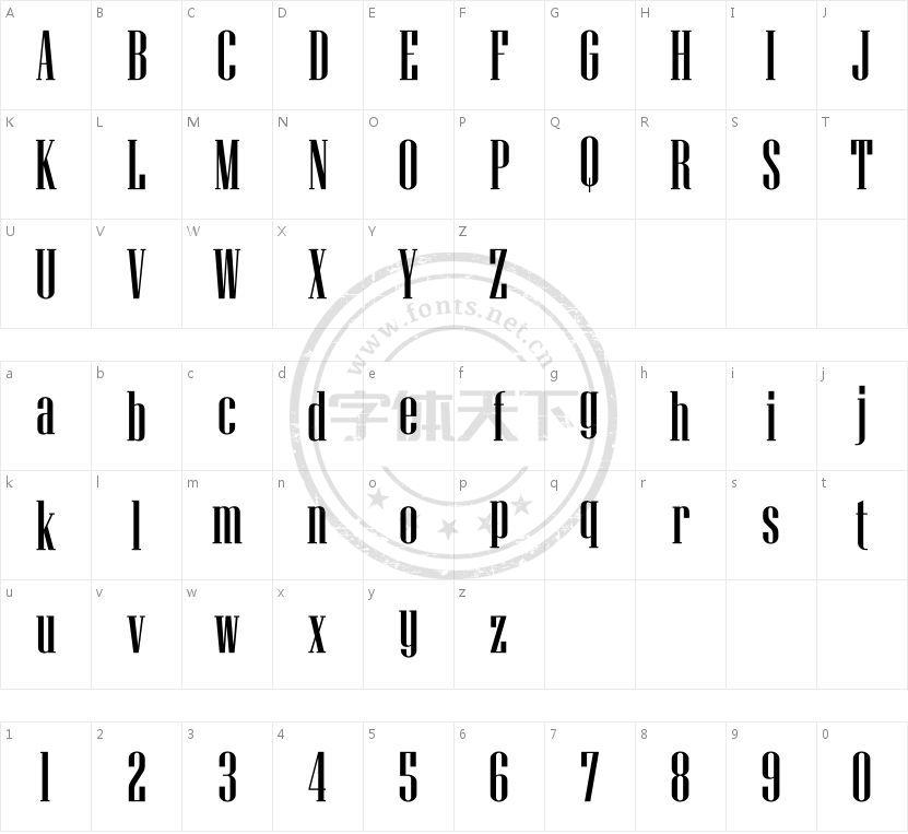 UKIJ Junun的字符映射图