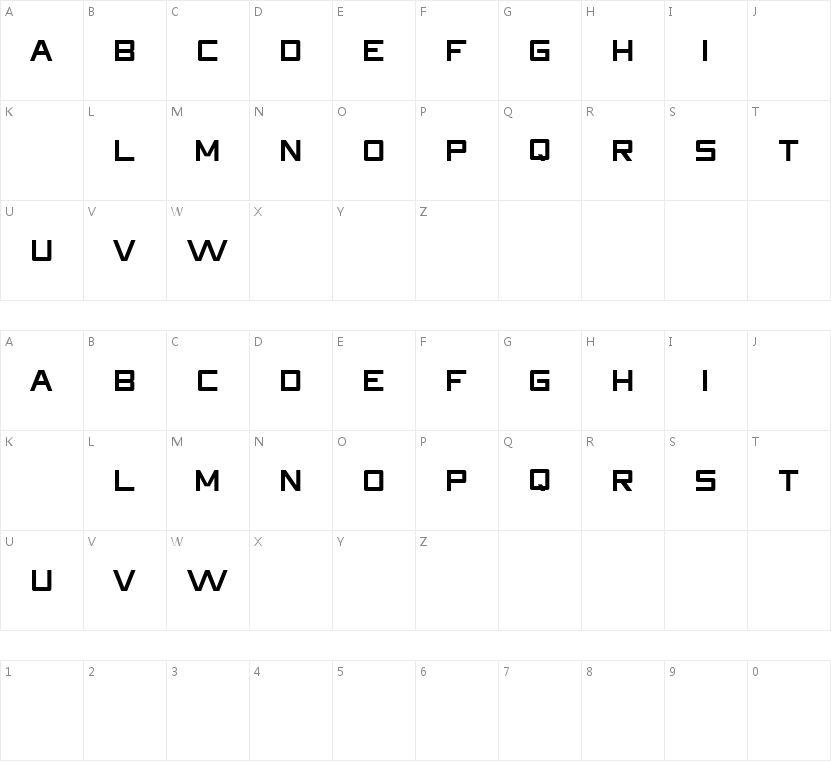 HDRight的字符映射图