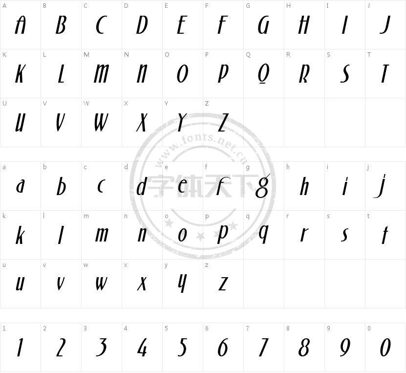 ARB44ChicagoModernAUG-35CAW01It的字符映射图