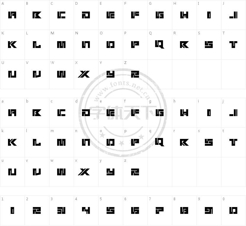 Kotoba的字符映射图