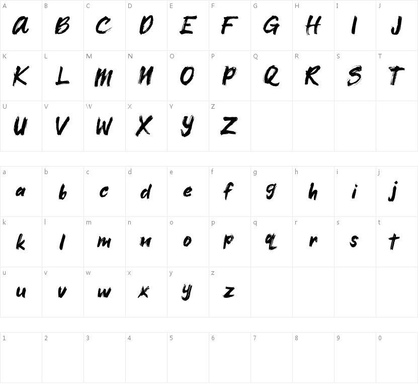 Xangda Shiny的字符映射图