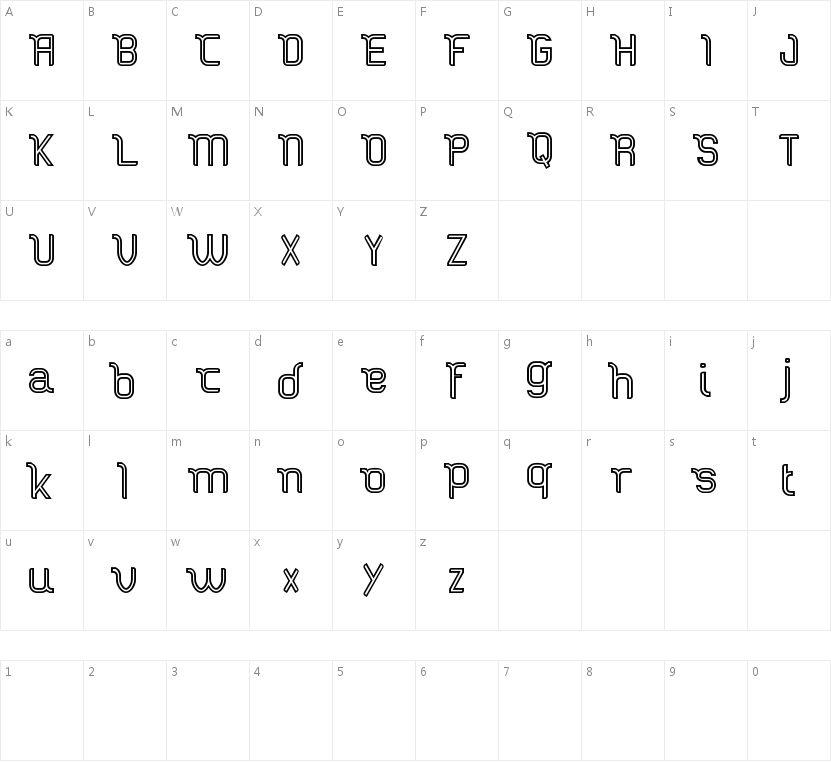 Stucker inline FREE的字符映射图