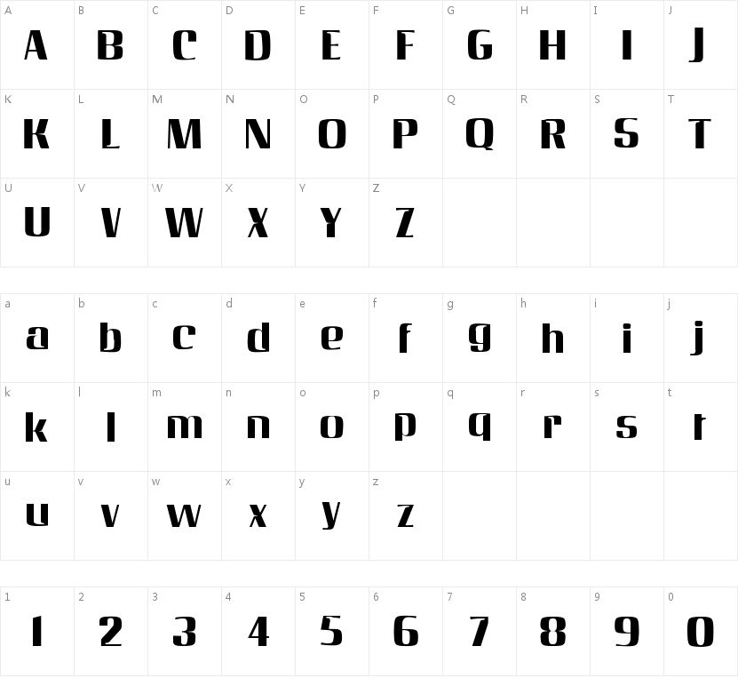 AngelicaBecker的字符映射图