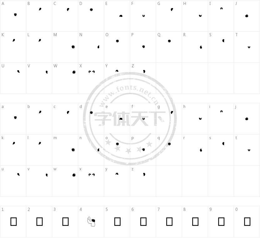 Semi的字符映射图