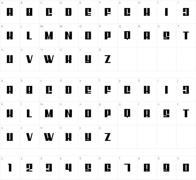 MixboxClean的字符映射图