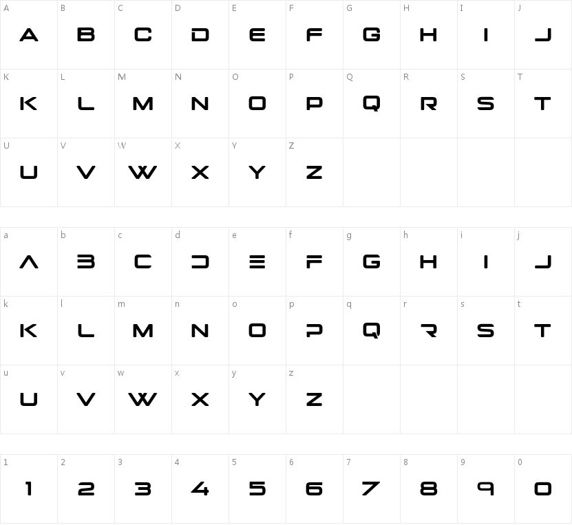 Rigelstar的字符映射图