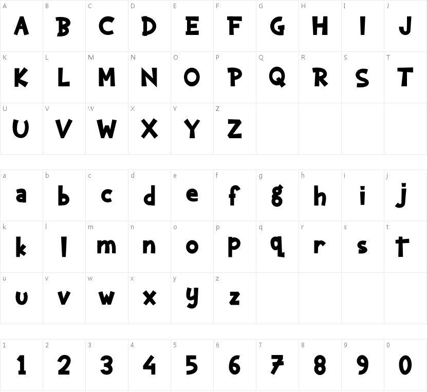 kaharsa的字符映射图