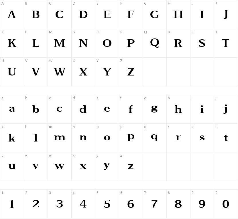 HyFMONTAGE的字符映射图
