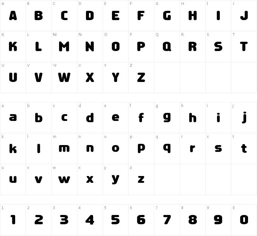 HFVoyager的字符映射图