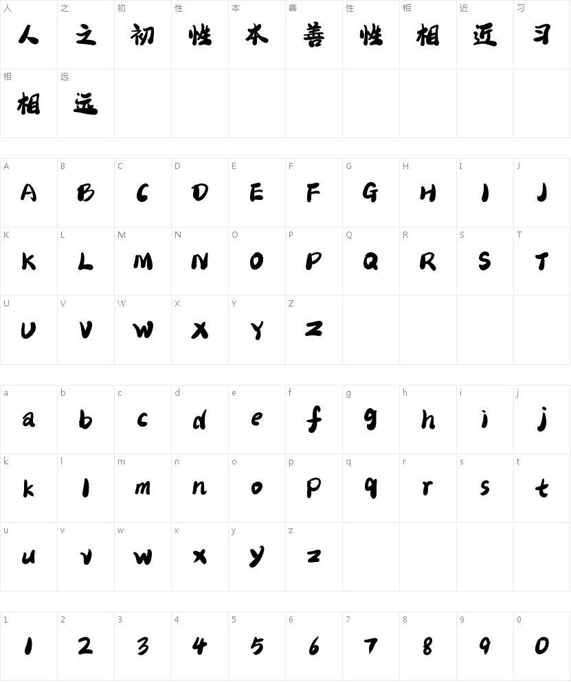 二字元布丁简繁的字符映射图