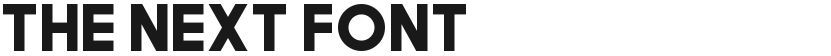 The Next Font的预览图