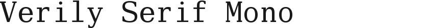 Verily Serif Mono的封面图