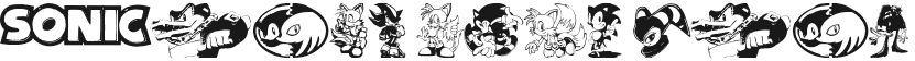 Sonic Mega Font的预览图