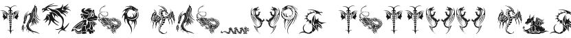 Tribal Dragons Tattoo Designs的封面图