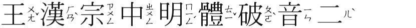 王汉宗中明体破音二的封面图