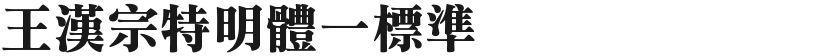 王汉宗特明体一标准的封面图