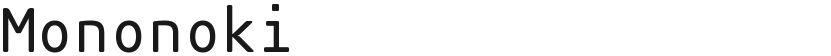 Mononoki的封面图
